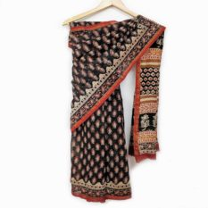 latest hand block saree