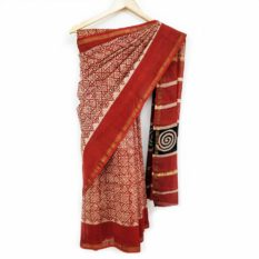 Latest Bagru Hand Block Print Saree
