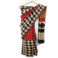 Latest Bagru Hand Block Saree