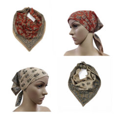 Powder Sand and Rust Colour Bandanas - Set of 2 Cotton Bandanas