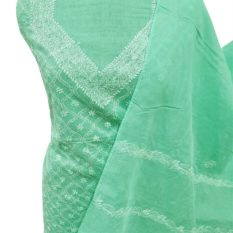 Green Lucknowi Dress Material