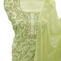 Lime Green Salwar Suit Material Online