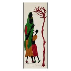 GiTAGGED Pipli Applique Tribal Woman with Daughter and Little Baby Wall Hanging 1
